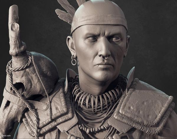 原始民族人类男人模型