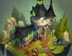 城堡 插画 (图)
