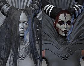 哥特式女巫精细模型作品设计鉴赏