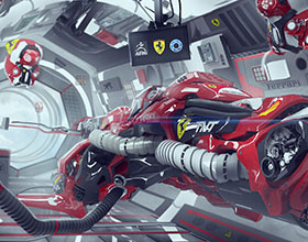 科幻史诗级法拉利F1赛车