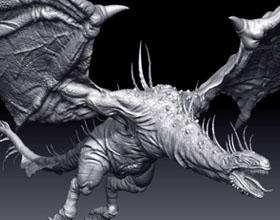 赤焰血翅飞龙3D模型设计