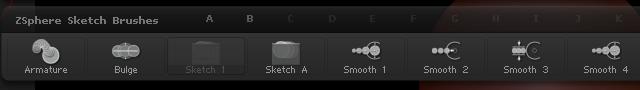 ZBrush中的四种裁切笔刷