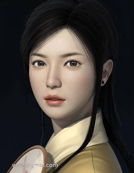 Maya打造东方古典美的少女过程详解