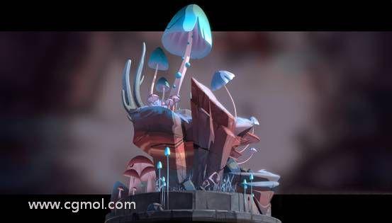 Maya创造奇特的真菌微小世界