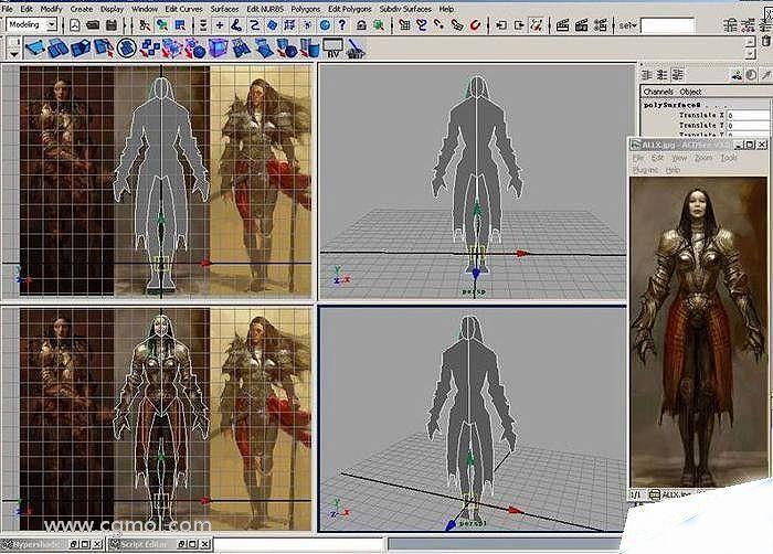 3D次世代游戏角色建模的快速方法