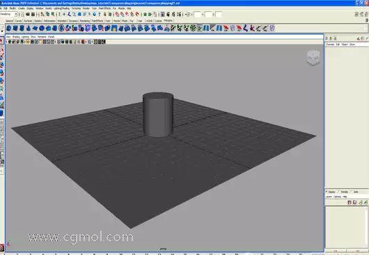 maya透明贴图制作透明的中式圆筒效果