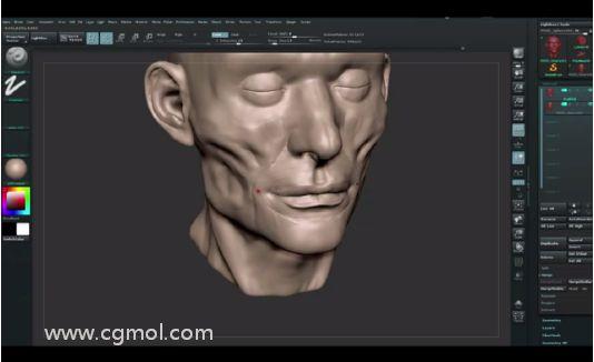 视觉化肌肉雕刻工作
