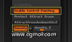 Density按钮组