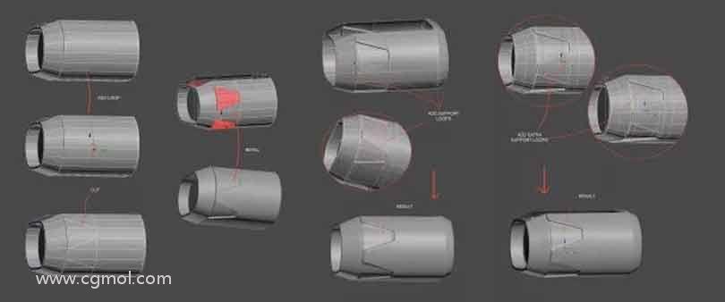 3dsmax硬表面建模之添加边缘循环