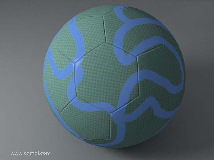 3DsMAX足球贴图具体的制作步骤之最终效果图