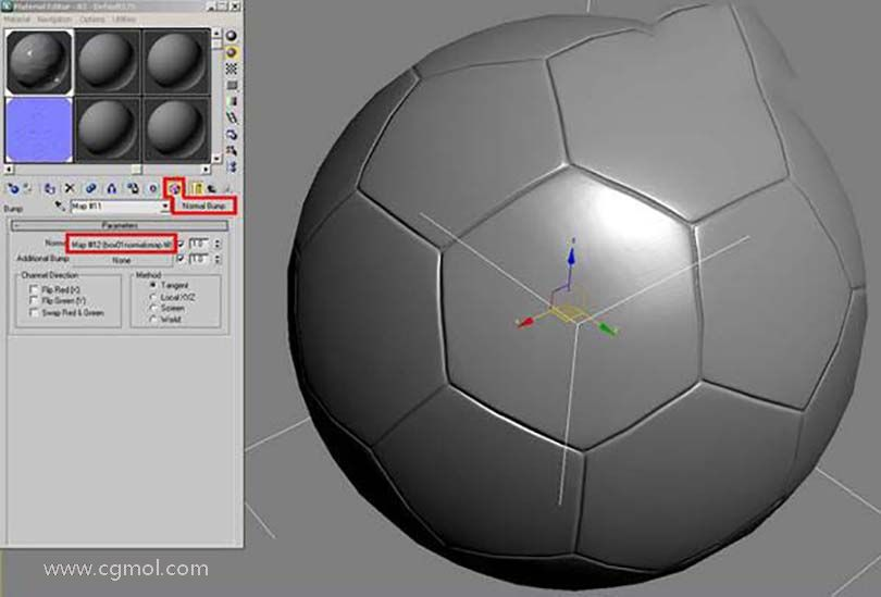3DsMAX足球贴图具体的制作步骤之生成低模的球体