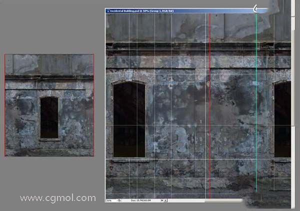3DsMAX纹理贴图技巧之背景建筑纹理贴图大小参数设置