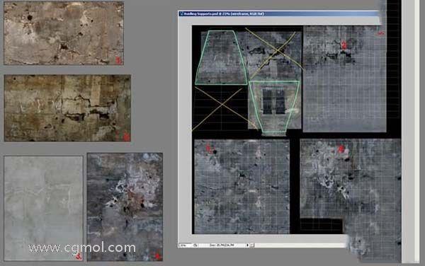 3DsMAX纹理贴图技巧之支柱部分纹理细节处理