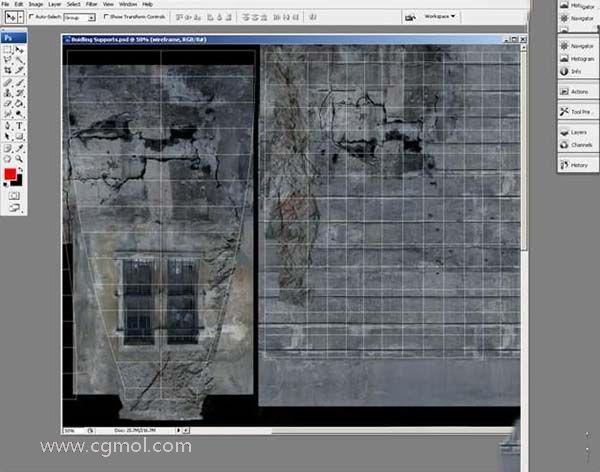 3DsMAX纹理贴图技巧之支柱部分纹理贴图增加弹孔