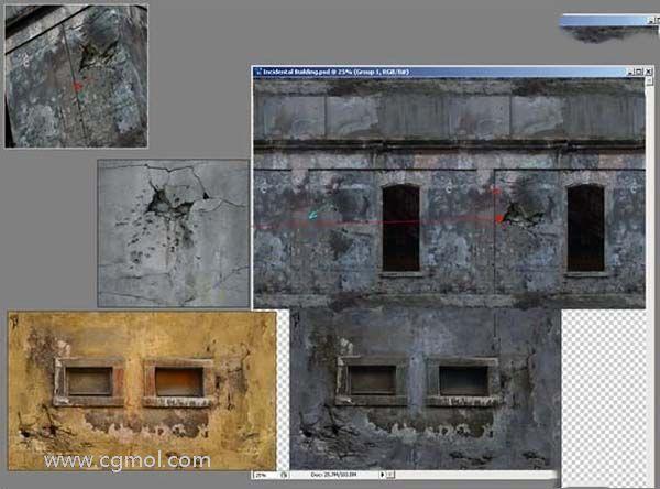 3DsMAX纹理贴图技巧之背景建筑纹理贴图色调数设置