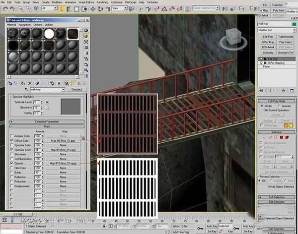 3DsMAX纹理贴图技巧之Alpha通道贴图材质窗口设置