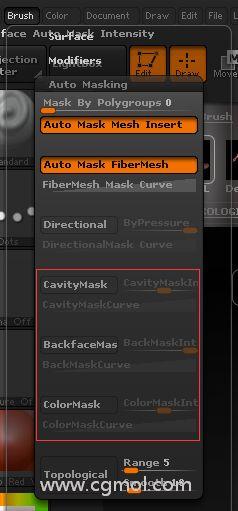 ZBrush实时遮罩介绍
