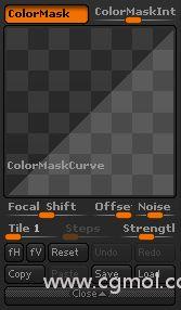 颜色遮罩曲线