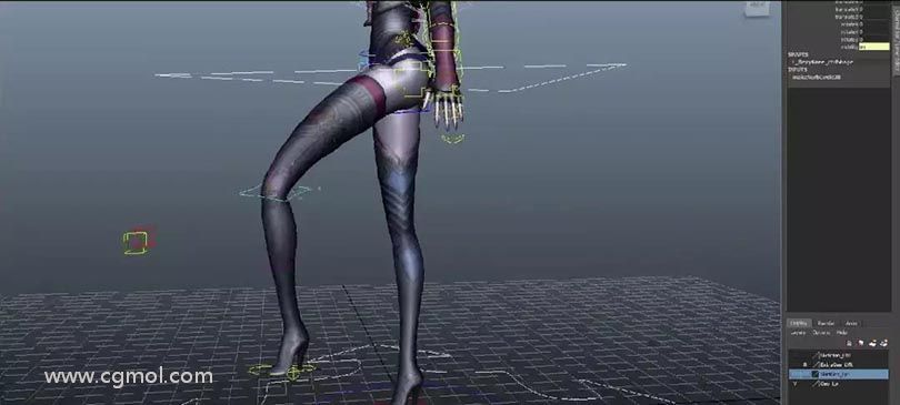 Maya角色绑定之暗黑魔女全流程实战中文教程之制作动画控制器