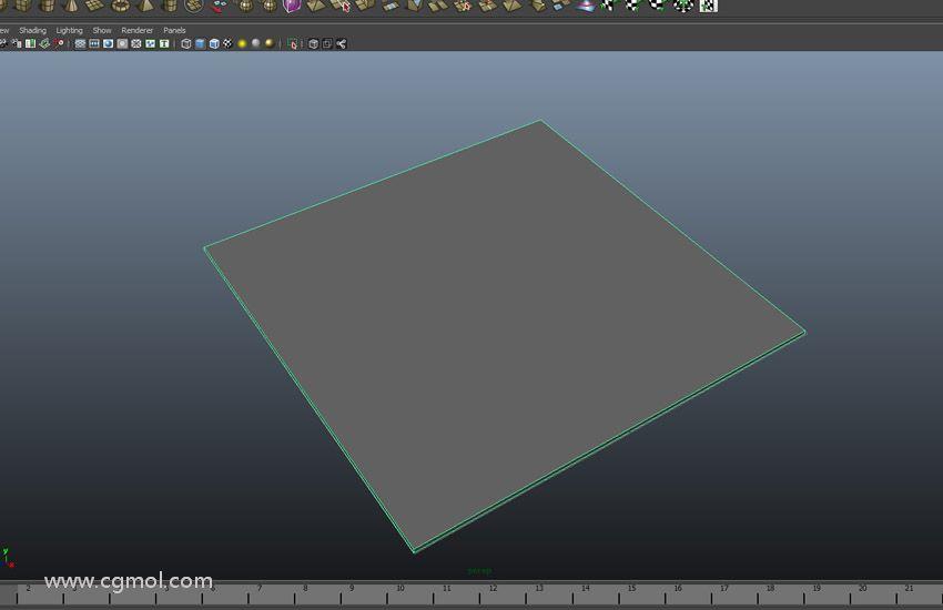 创建立方体多边形网格