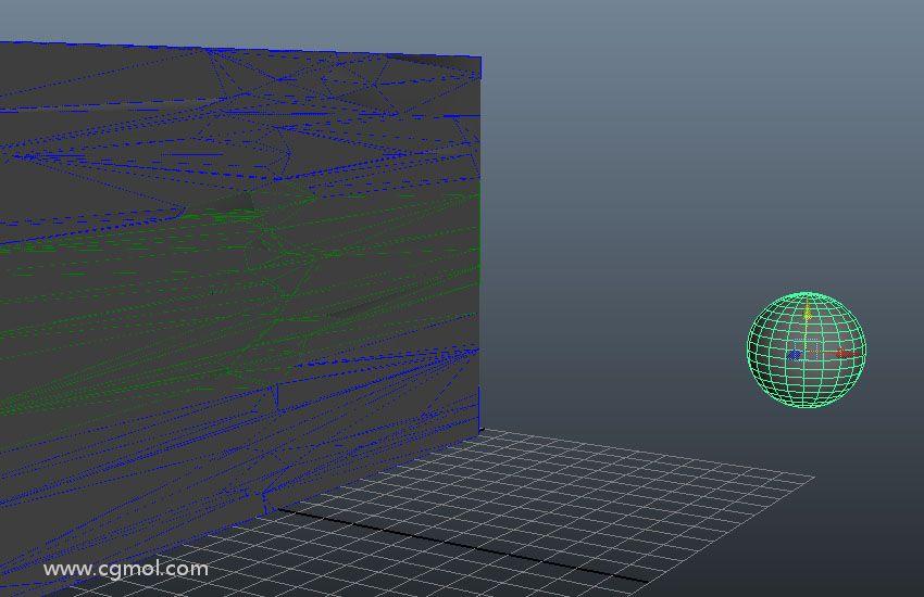 Maya的PullDownIt破碎插件使用技巧-创建墙体局部破碎(二)
