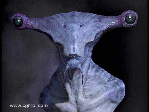 次时代Hammerhead锤头怪外星生物雕像制作流程之主体雕刻