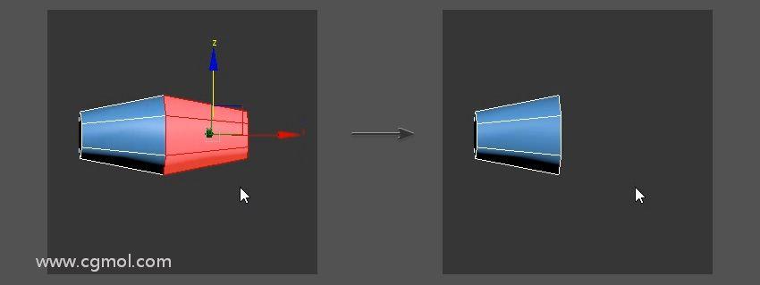 本教程将带你一步一步创建一个低多边形剑模型,你可以在视频游戏,图形设计和插图项目中使用,同时快速学习3D Studio Max。    紧接上节继续制作护手   3.如何制作护手护角    步骤1    使用移动工具并按住