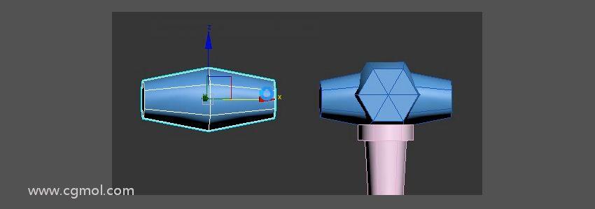 max制作卡通风低模大剑教程--制作护手(二)