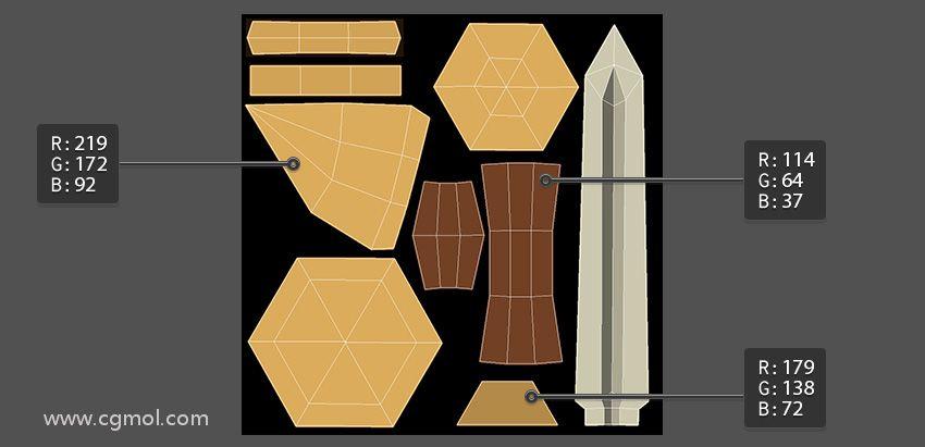 为剑柄创建基色