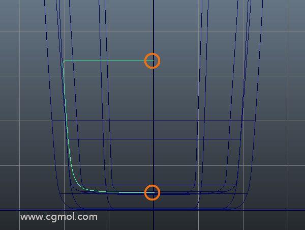 完成曲线,同时开始和结束顶点对齐。