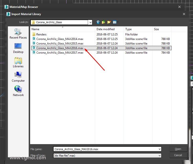 选择与已安装的3ds Max版本对应?#21335;?#24212;.max文件: