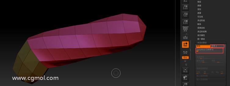 密度1 DynaMesh分辨率��0 �r的多�形�W格