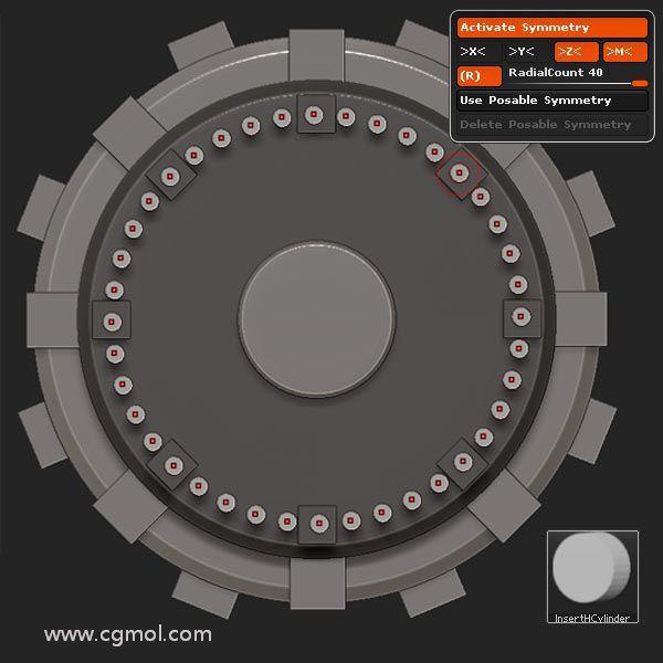 使用�较�ΨQ性和InsertHCylinder刷, 插入一���A柱  使用�较蛴��档�40