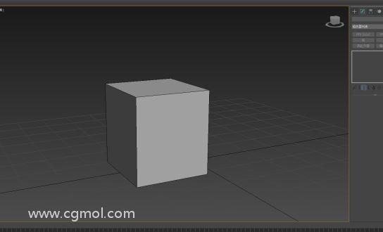 新建一个box,并且转换成可编辑多边形