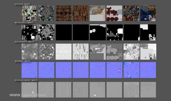 在Autodesk Maya中创建的3D电影黑色场景的UDMI。