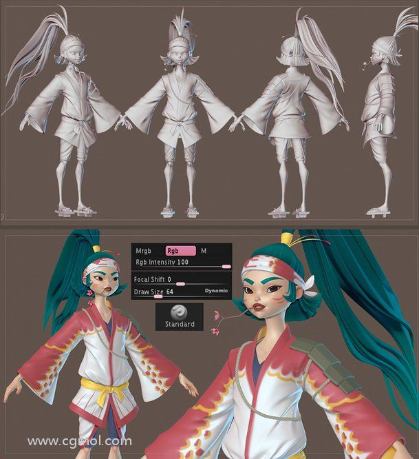 ZBrush中的Polypainting