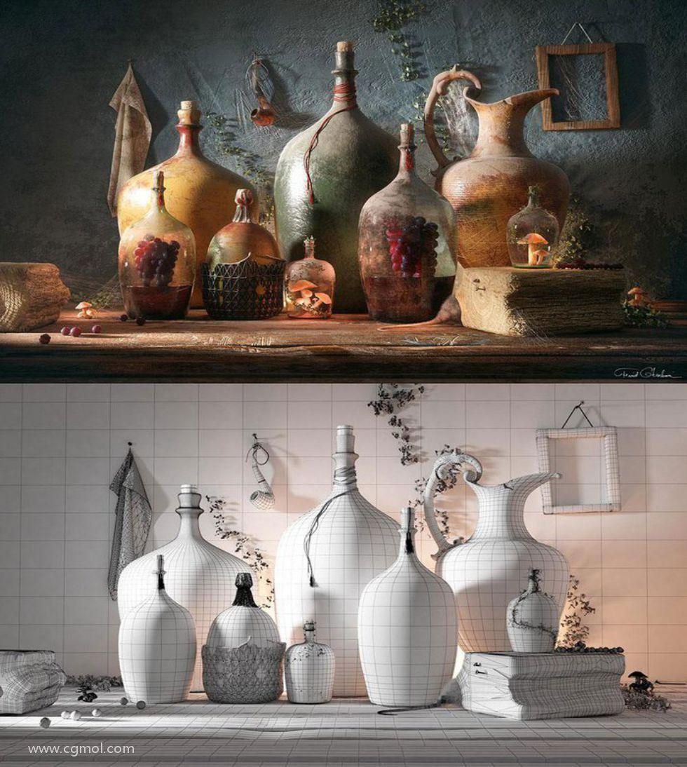 Maya制作生命之瓶瓷器艺术品第一节:规划