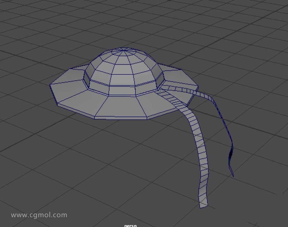 Maya基础入门之如何建模漂亮的草帽模型